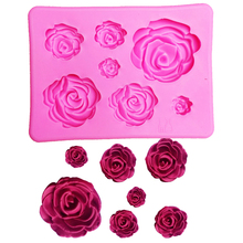 3D Silicone Mold Rose Shape Mould For Soap,Candy,Chocolate,Ice,Flowers Cake decorating tools T1023(China)