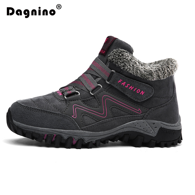 DAGNINO New Winter Warm Snow Boots Women Autumn Suede Thick Non-slip Waterproof Ankle Boots Sneaker Size 36-40 Walk Casual Shoes<br>