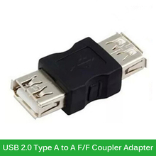 Original USB 2.0 Type A Female to A Female Coupler Adapter Connector USB F/F Converter For Laptop PC(China)