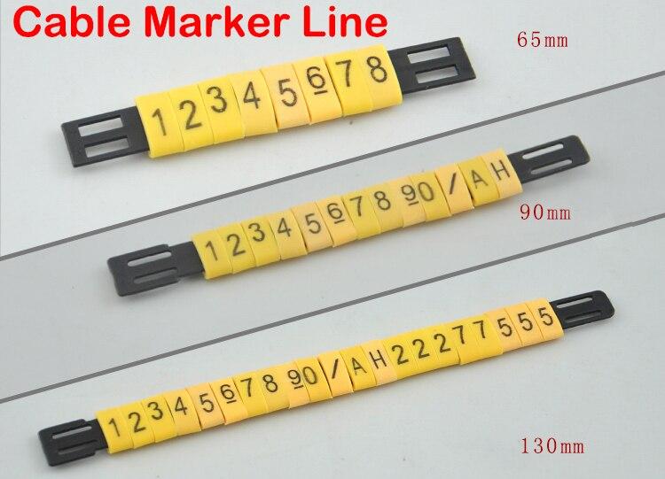 100pcs/Lot 65mm MS-65 90mm MS-90 130mm MS-130 Balck PVC Flat Marking Line Cable Marker Strip<br><br>Aliexpress