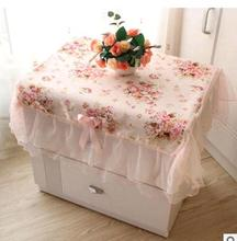 Pastoral Cloth Cover Cloth Dust Cover Bedside Cabinet Bedside Cabinet Sets Lace Tablecloths