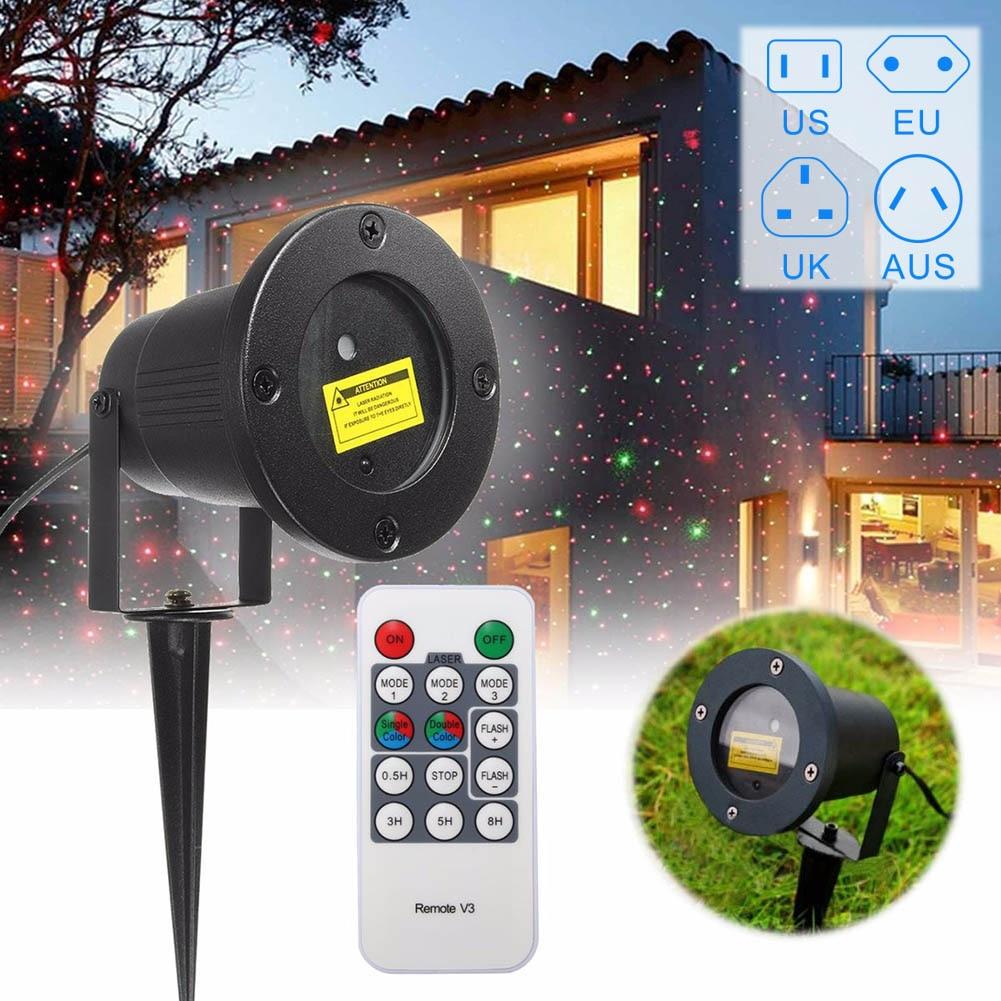 100-240V 2A Laser Fairy Projection Light,US/EU/AU/UK Plug Outdoor Waterproof Christmas Garden Landscape LED Lamp Projector --M25<br>