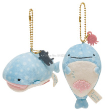 "4"" Jinbei San Whale Shark mini Plush Doll Stuffed Toy Mascot Keychain Hot Spring Japan"