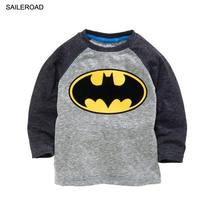 Batman v Superman 2-7 Ages Children Kids Boys Long Sleeve T Shirt Cotton Baby Boys Tops Tees T-Shirt Clothes Fashion SAILEROAD