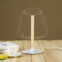 3D Acrylic LED Table Light Table Lamp Nightlight Desk Decor Home Decor Gift (Short Waist)