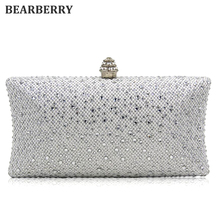 BEARBERRY 2017 high quality Designer Vintage Diamond Evening Bag Fashion Women Day Clutch Party Dress Handbags Purse Chain bags