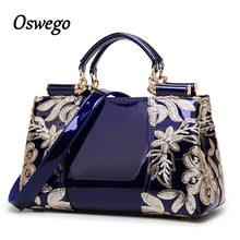 Luxury Design Fashioh Brand Women Bag Sequined Embroidery Genuine Leather Handbags Messenger Bag Tote Case for Ladies Dress(China)