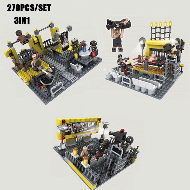 279PCS/SET WrestleMania Wrestling Fitness Club Gym 3IN1 Model Wrestler Big Show Figures Building Blocks Bricks Toy Boys Gift<br><br>Aliexpress