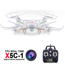 Syma X5C x5c-1 RC Quadcopter With HD camera 2 Millions Pixels 2.4GHz 6 Axis 4CH Remote Control Helicopter Drone Explorers(China)