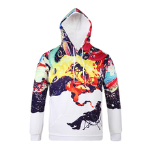 Novelty Brand New Men Hoodies 3D Printed Long Sleeve Men Pullover Sweatshirts Fancy Hip-Hop Streetwear Hooded Slim Fittnees Tops