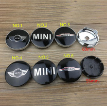 20pcs 60mm and 56mm car wheel emblem badge wheel hub cap center cover decal for Mini Cooper S wheels cars chrome centre hubcaps