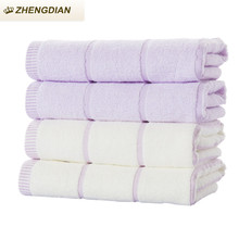 Zhengdian 100% cotton toalths Soft High Absorbent Lavender Fast Drying bathroom beach products air permeability face towels