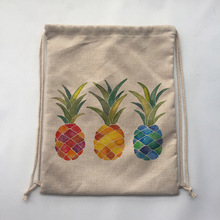 colerful pineapple Outdoor Beach Gym Swimming Clothing Shoes Towel Storage Bag Drawstring Backpack