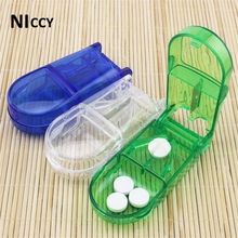 1pc Pills Cut Storage Box Travel Portable Medical Kit Medicine Sundries Storage Outside Favor Home Organizer 2017 Creative Gifts(China)