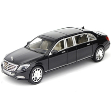 High simulation NEW 1/24 Maybach S600 Alloy Metal Car Model Diecast With Pull Back Six Doors Can Be Opened For Children Toys(China)