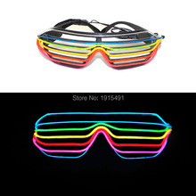 Two Style Mixed Christmas decor Sound Activated EL wire Glasses Novelty Lighting Festival Gift Custom Colors Led Neon Eyeglasses