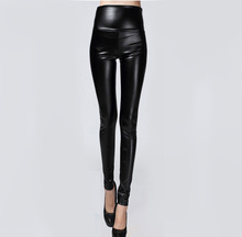 Hot Sale Autumn Winter Women Clothes Skinny PU Leather Pencil Leggings Sexy Thin Fleece Trousers Ladies Slim Faux Leather Pants(China)