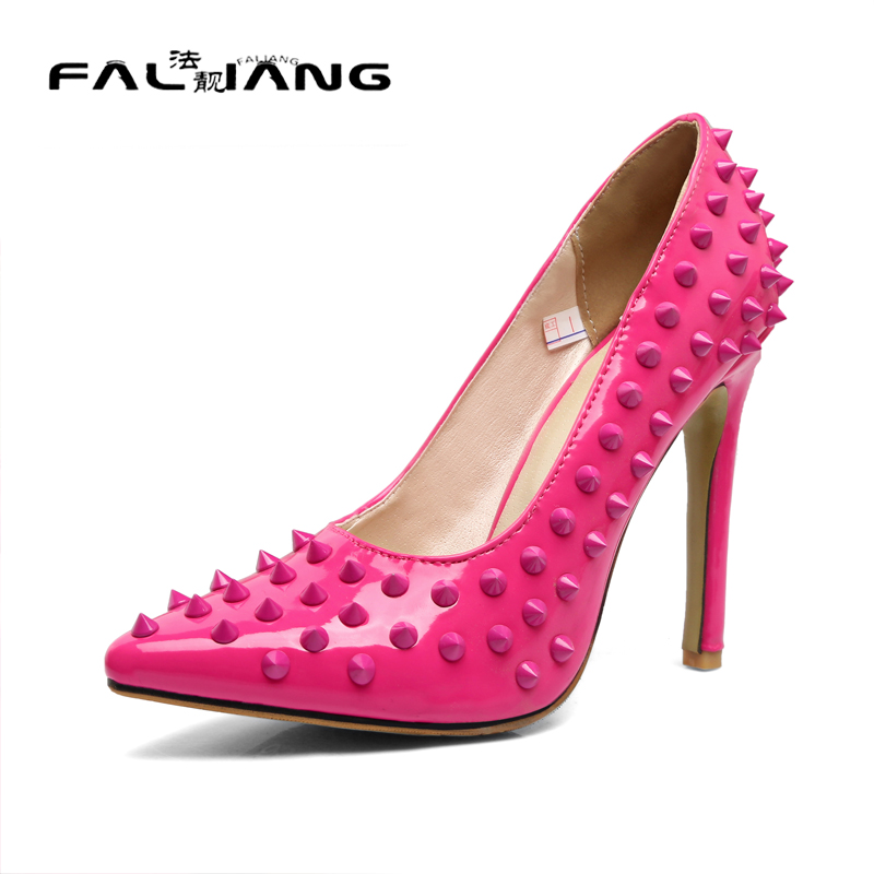 Zapatos Mujer Tacon Top Fashion Superstar Shoes Women Heels 2017 Slip On Thin Extreme High Womens Size Fashion Rivet Strappy <br><br>Aliexpress