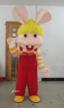 blue and pink bunny mascot costumes hot sale cartoon easter bunny costume cute rabbit costumes