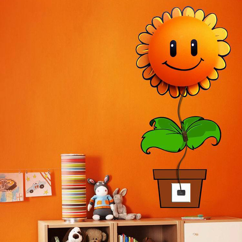 3D Wallpaper Wall Lamp E14 Childrens Room Cartoon Wall Lamp Plastic Bedroom Bedside Lamp Creative Decorative Wallpaper Lights<br>