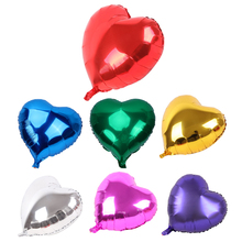5pcs 18inch Aluminum Foil Balloon Heart Shape Hydrogen Wedding Birthday Balloons DIY Party Decoration Supplies(China)