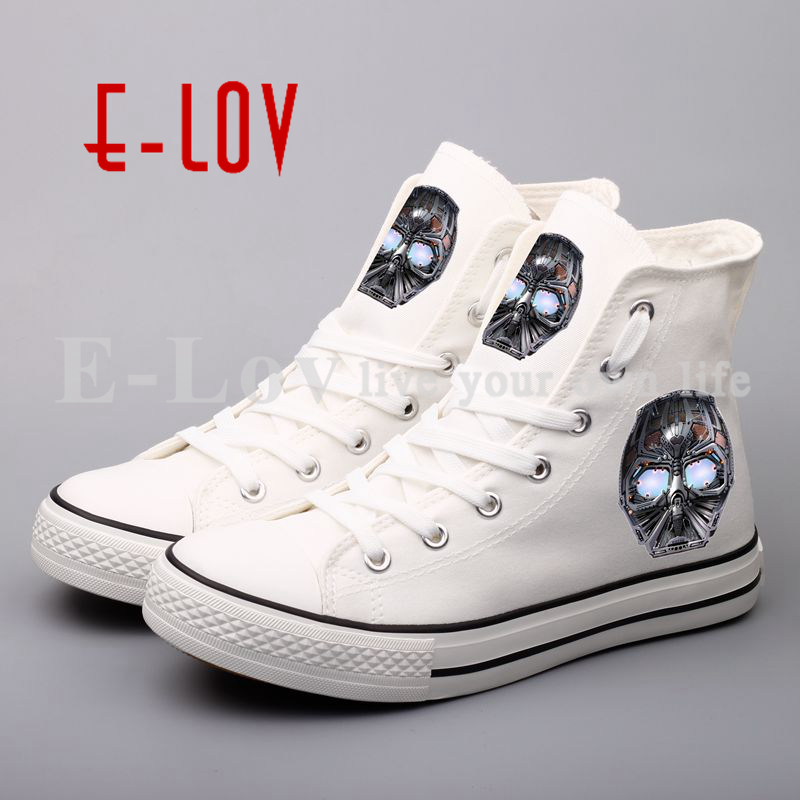 Star Wars Stormtrooper Canvas Shoes Women Custom Plus Size Print Star Wars Flat Casual Shoes Lace-up Hip Hop Shoes For Valentine<br>