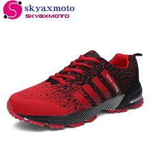 2017 Hot Sales Fashion Light Breathable cheap Lace-up Men Shoes Human Race Casual Shoes For Male Black Red Plus Size 35-46(China)