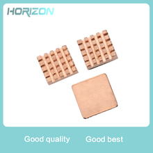 1 Set of 3 Pieces Pure Copper Heatsinks with Thermal Pad Cooling Kit Adhesive Cooler Set for Raspberry Pi 3/2Model B/B+