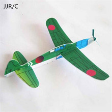 JJR/C Top Selling 4pcs/Set Diecasts Vehicles DIY Mini Foam Handmade Throwing Flying Aircraft Airplane Glider Children Model Toy