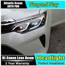 Auto.Pro Car Styling for Toyota Camry V55 LED Headlight 2015 New Camry Headlights drl Lens Double Beam HID KIT Xenon