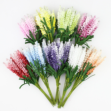 Artificial Lavender flower Bouquet, Multicolor foam flowers for wedding wreath Scrapbook decoration,100pcs/lot(China)