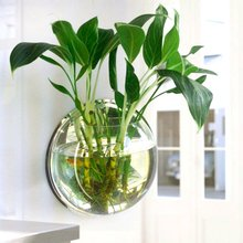 Pot Plant Wall Mounted Hanging Bubble Fish Bowl Acrylic Bowl Fish Tank Aquarium Home Decoration