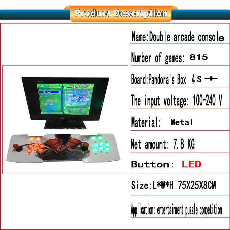 Best price!!!Arcade Joystick gamepad game Controller with pandora box 4s jamma multi game board 815  games in 1