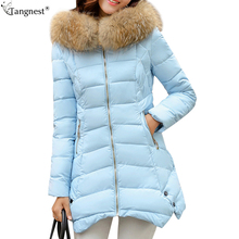 TANGNEST Candy Color Skirt Winter Woman Hooded Coats 2017 Fashion Solid Long Padded Jackets Casual Slim Coat Plus Size WWM1574