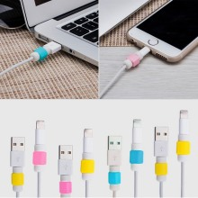10PCS/Lot Portefeuille USB Charger Cable Saver Protector for Apple iPhone 5 5s 6 Plus 6S ipod nano iphon 5 i6 mobile accessories(China)