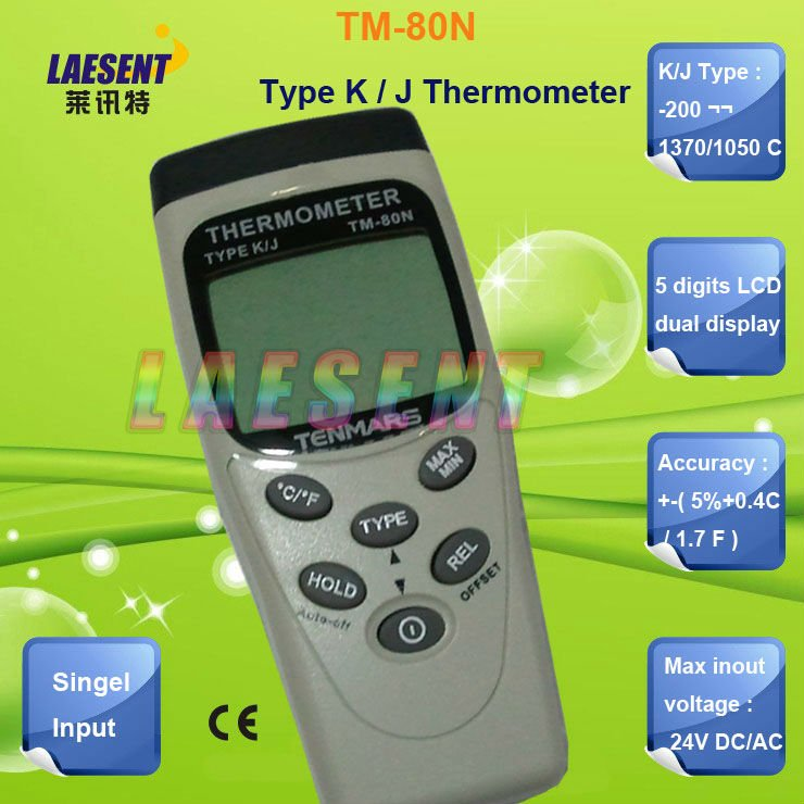 Wholesale&amp;retail , K/J type : -200 ~1370/1050 C Digital Thermometer TM-80N free shipping<br><br>Aliexpress