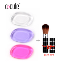 Buy 3 Get 1 Gift Silicone Sponge makeup puff Liquid Foundation BB Cream Beauty Essentials Silicone Gel Cosmetic Puff(China)