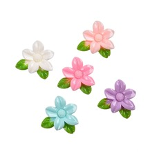 Buy 30pcs/Set Colorful Flower Flatback Resin Cabochons Scrapbook Craft Headwear Accessories 25x25mm DIY Phone Decor for $1.37 in AliExpress store