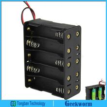 DIY 15V 10-Slot / 10 x AA Battery Double Deck / Back to Back AA Battery Holder Case Box with Leads (3pieces/lot)
