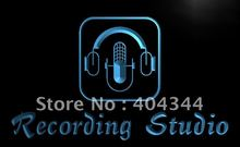 LB801- Recording Studio Microphone Bar   LED Neon Light Sign   home decor shop crafts