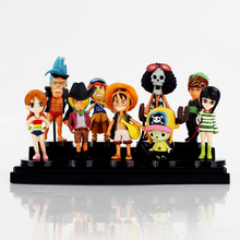 9pcs/lot New Hot Anime One Piece PVC Action Figures Cute Mini Figure Model Collection Model Toys For Children Chirstmas Gifts(China)