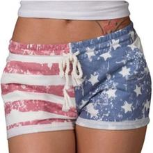Chamsgend Durable 2017 hot Striped summer Short Women American Flag Shorts Sexy Drawstring Beach(China)