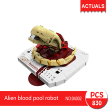Lepin xingbao 04002 830Pcs Movie Series Alien blood pool robot Model Building Blocks Set  Bricks Toys For Children wange Gift
