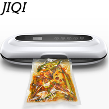 JIQI Food Vacuum Sealer Automatic Vacuum wet and dry Sealing Packer electric Plastic Packing Machine fruits saver with Free Bags(China)