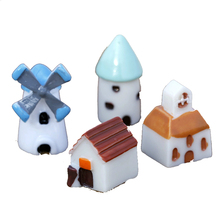 1SET/4PIC Mini Windmill Style Home Play Accessories Durable Natural Resin Doll Toy Kawaii Mini Dollhouse Miniatures Cottage(China)
