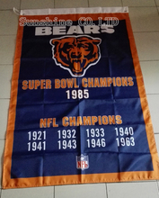 Chicago Bears Super Bowl Champions Flag Hot sell goods 3X5FT 150X90CM Banner brass metal holes CB11