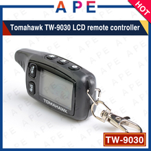 Hot sell Free shipping 2-way LCD Remote For Tomahawk TW9030 Two way car alarm system car Keychain Tomahawk TW-9030(China)