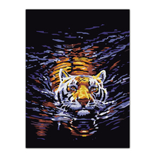 Frameless Tiger Painting DIY Oil Painting By Numbers Kits Wall Art Picture Home Decor Acrylic Paint On Canvas For Artwork(China)