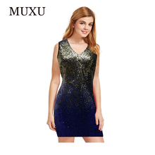 Buy MUXU vestido sexy summer sequin glitter dress vestidos mujer womens clothing bodycon fashionable dresses backless clothes women for $28.33 in AliExpress store