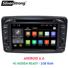 Free Shipping 2GB RAM Android6 Car DVD with 4G Modem For Mercedes Benz Viano Vito W203 W209 W639 C Class W463 Steering wheel